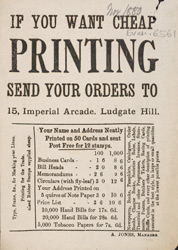 Advert For Jones', Printer